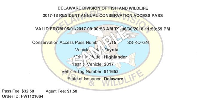Conservation Access Pass Sample