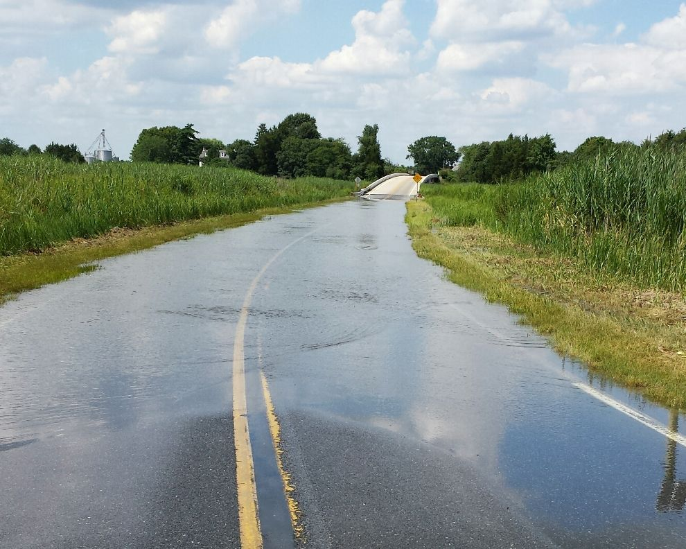 Photo of road flooding on Route 9