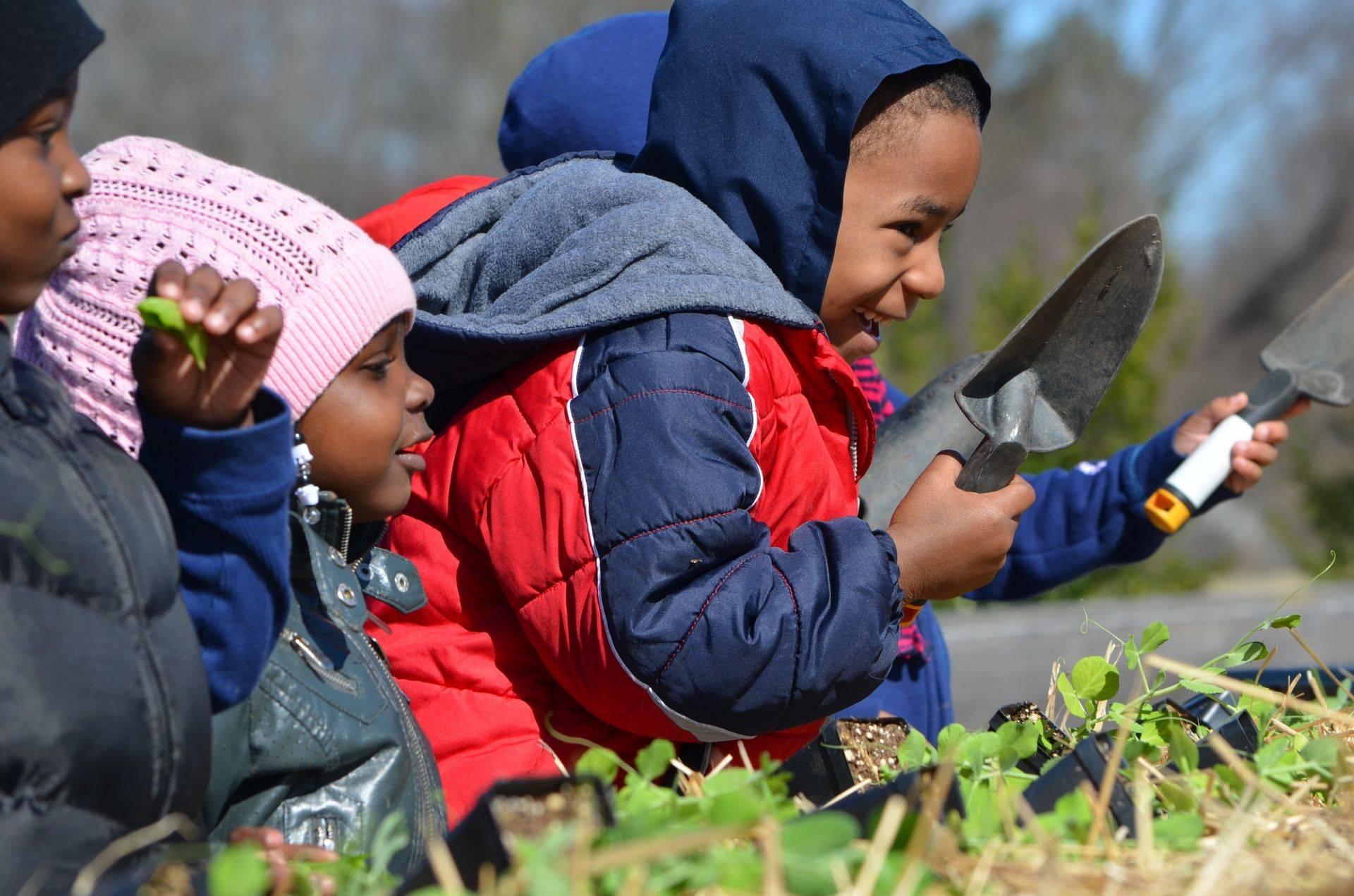 Children, smiles and gardens