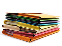 Office paper and file folders