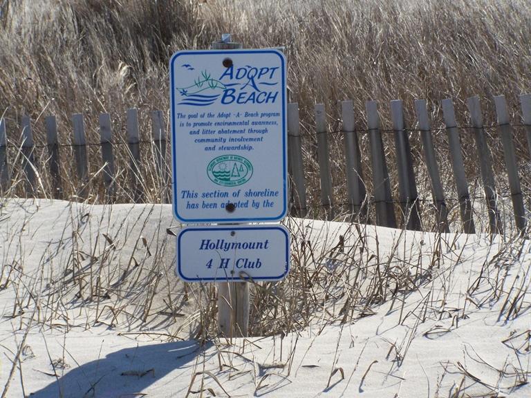 Adopt-a-Beach sign