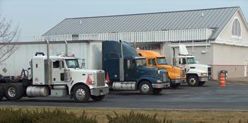 Idling trucks