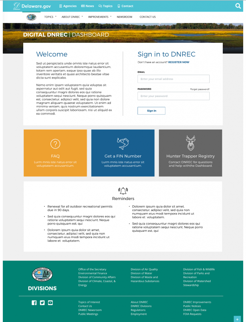 Digital DNREC Dashboard