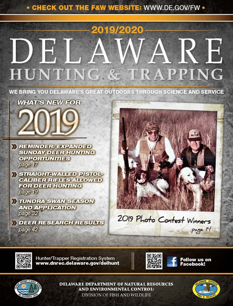 2019/2020 Delaware Hunting Guide Cover