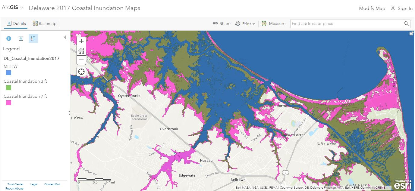 2017 Coastal Inundation Map