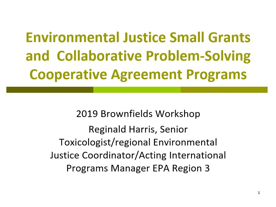 EPA Environmental Justice Slide Show