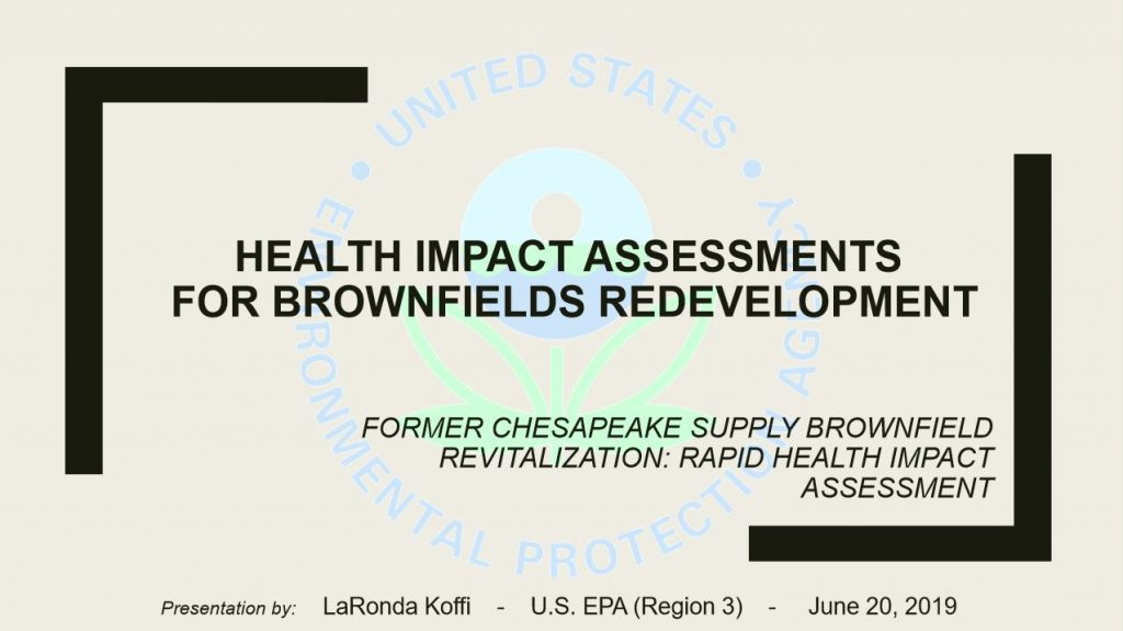 Health Impact Assessment for Brownfields