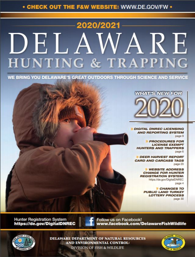 2020/2021 Delaware Hunting Guide Cover