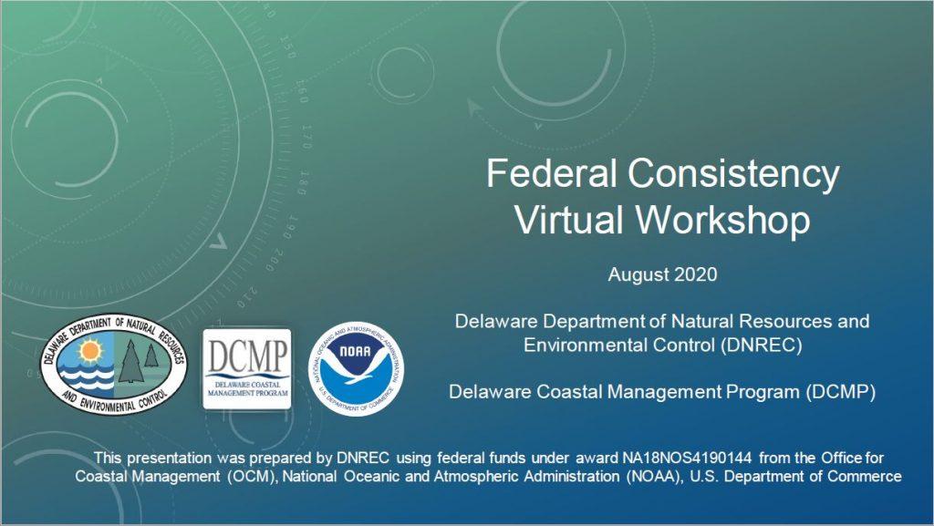 Virtual Workshop -- Federal Consistency