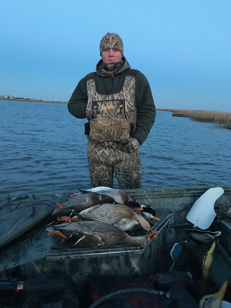Hunter with waterfowl