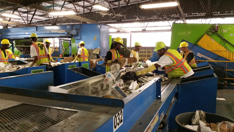 Recycling Center Workers