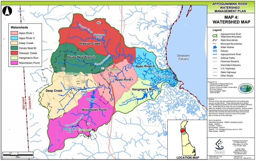 Appoquinimink Watershed Map