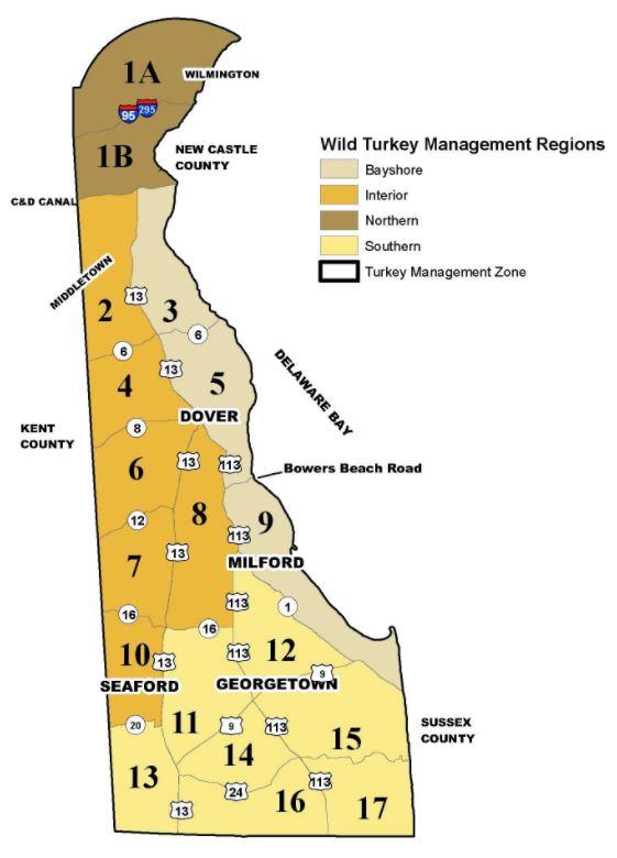 Wild Turkey Management Regions