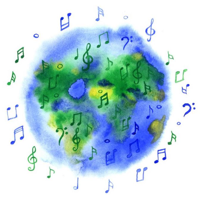 Earth and Musical Notes