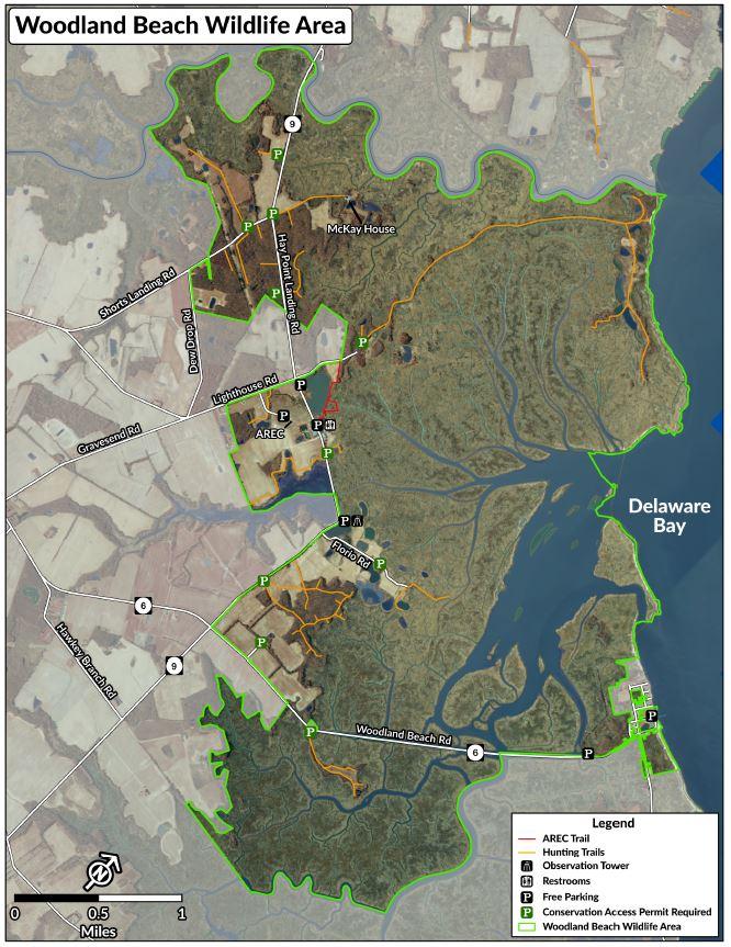 Woodland Beach Map