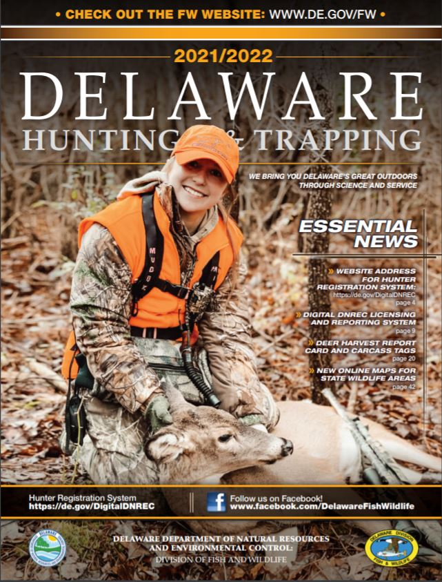2021/22 Delaware Hunting and Trapping Guide Cover