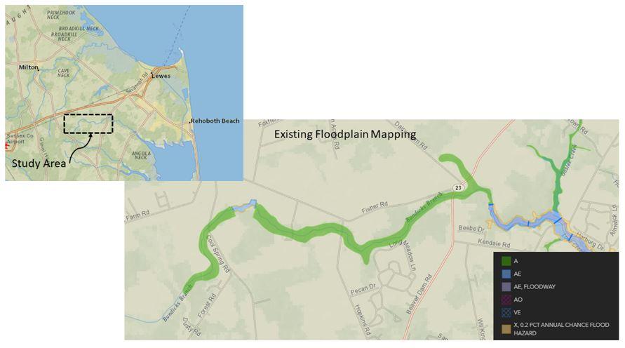Bundicks Branch Flood Mapping