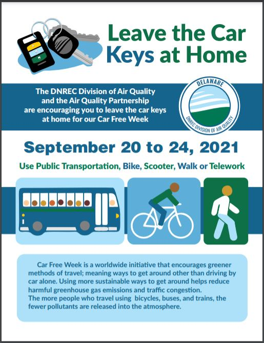 Leave your keys at home for a car-free week starting Sept. 20, 2021